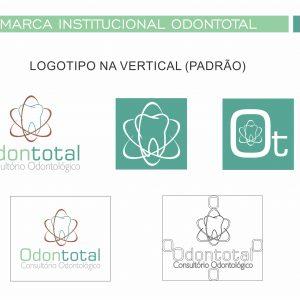 Entrega de versão final de logotipo através de manual de apliação.